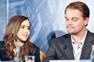 Inception pressconf Ellen Page Leonardo DiCaprio photo Filmgeek