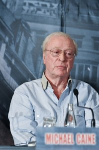 Inception pressconf Michael Caine photo filmgeek
