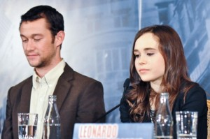 Inception pressconf Joseph Gordon-Levitt Ellen Page photo   filmgeek
