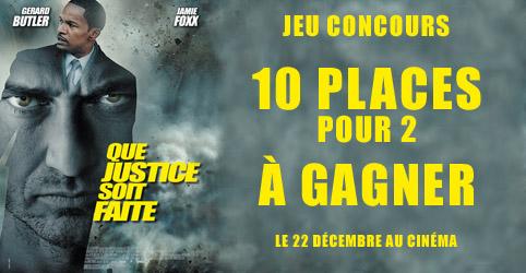 jeu concours Que justice soit faite 10 places de cinema à gagner