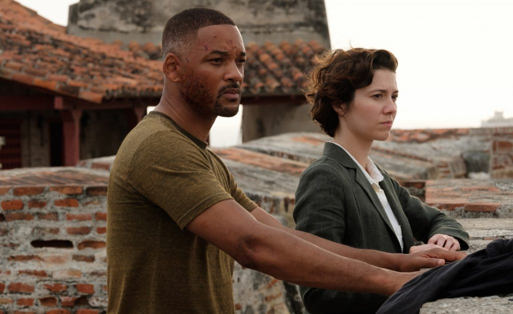 Gemini man Will Smith and Mary Elizabeth Winstead